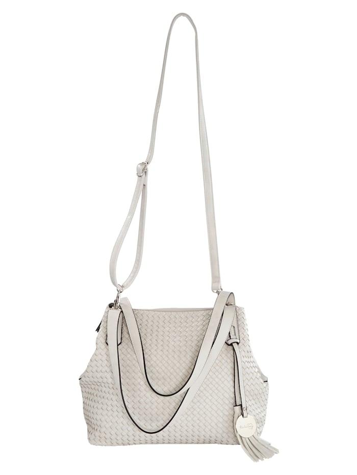 Taschenherz Handbag in a weave-effect finish, Cream White
