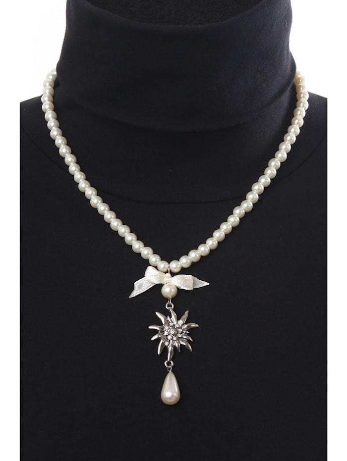 Halskette für Tracht Sonja mit Edelweiß Anhänger