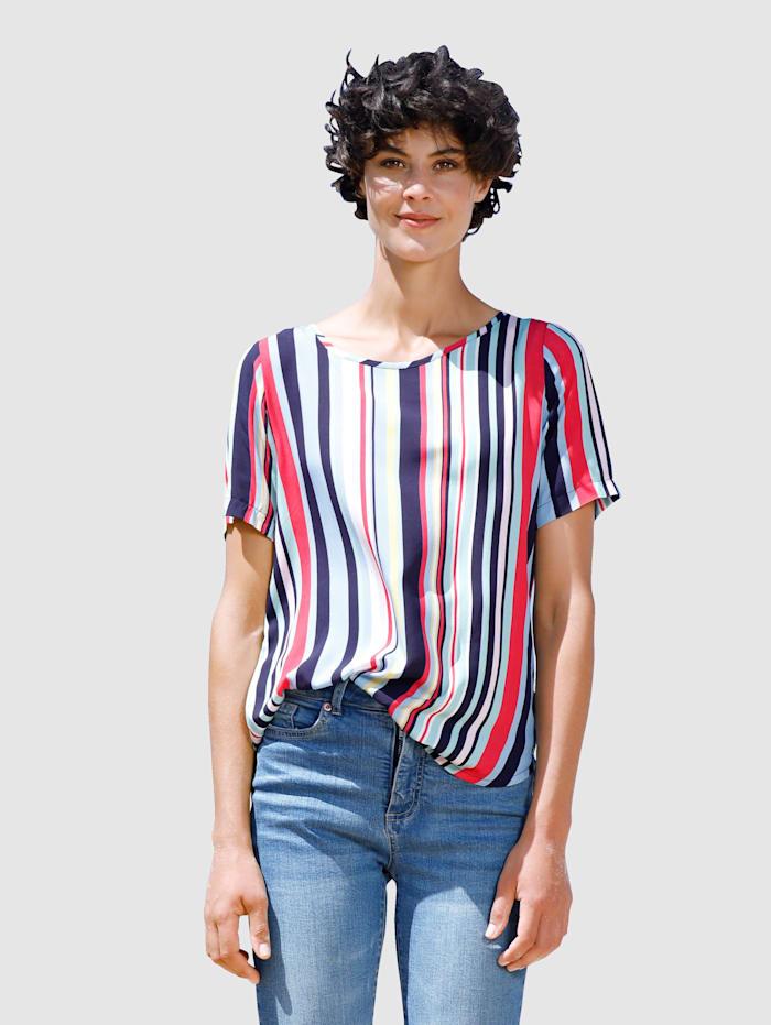 Dress In Bluse mit tollem Streifendessin, Marineblau