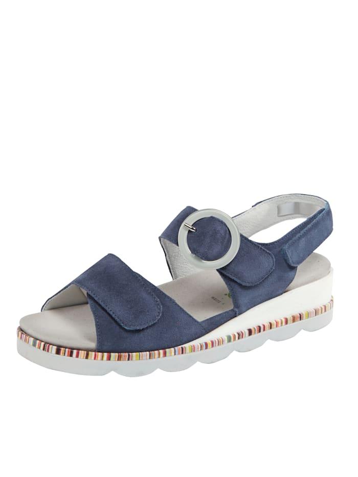 Waldläufer Sandale mit Luftpolsterlaufsohle, Blau