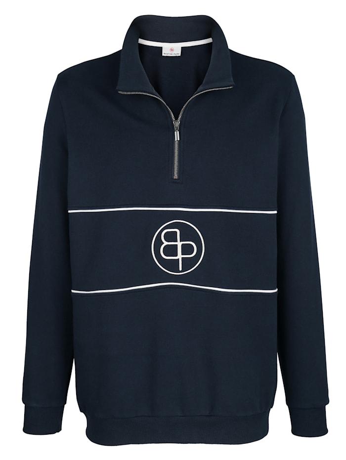 Boston Park Sweatshirt mit Stickerei im Vorderteil, Marineblau