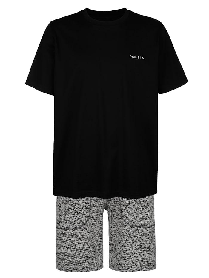 BABISTA Pyjashort en coton mercerisé, Anthracite