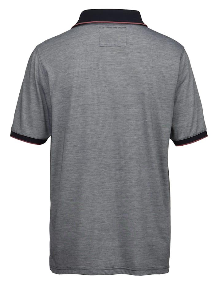 Poloshirt in mooie gemêleerde look