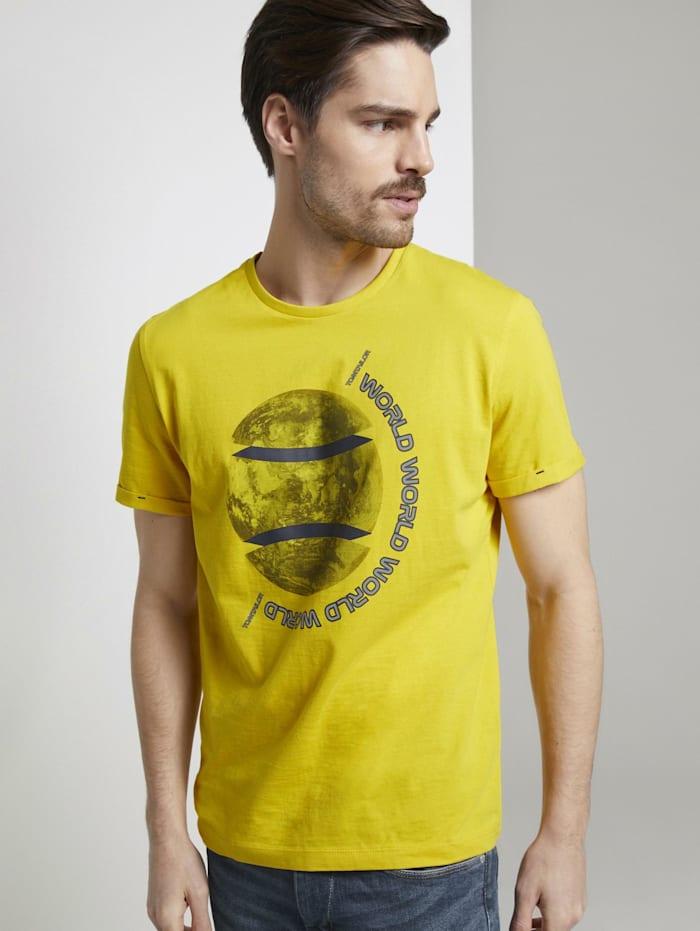 Tom Tailor T-Shirt mit Foto-Print, Californian Yellow
