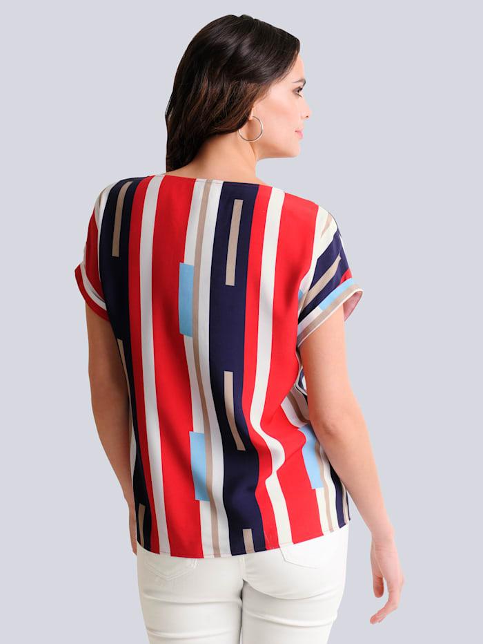 Blusenshirt im exklusiv designten Print