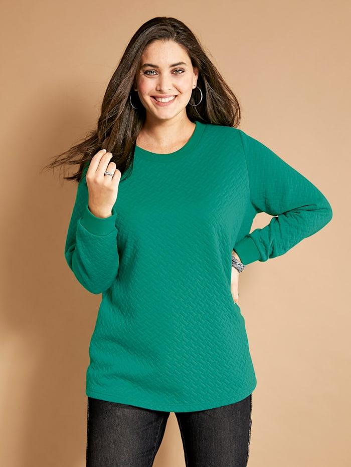 MIAMODA Sweatshirt aus strukturierter Qualität, Grün
