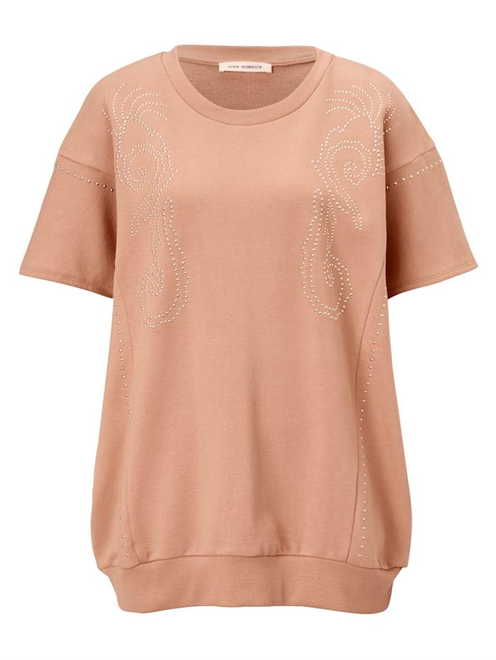 Sofie Schnoor Shirt mit Besatz, Braun