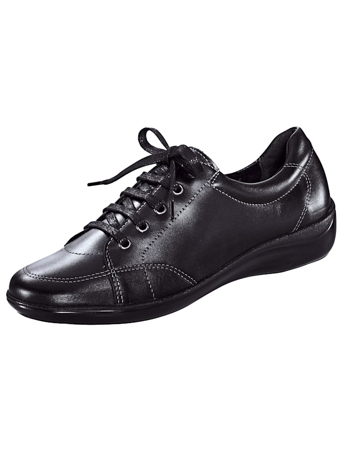 Naturläufer Lace-up shoes made of real leather, Black