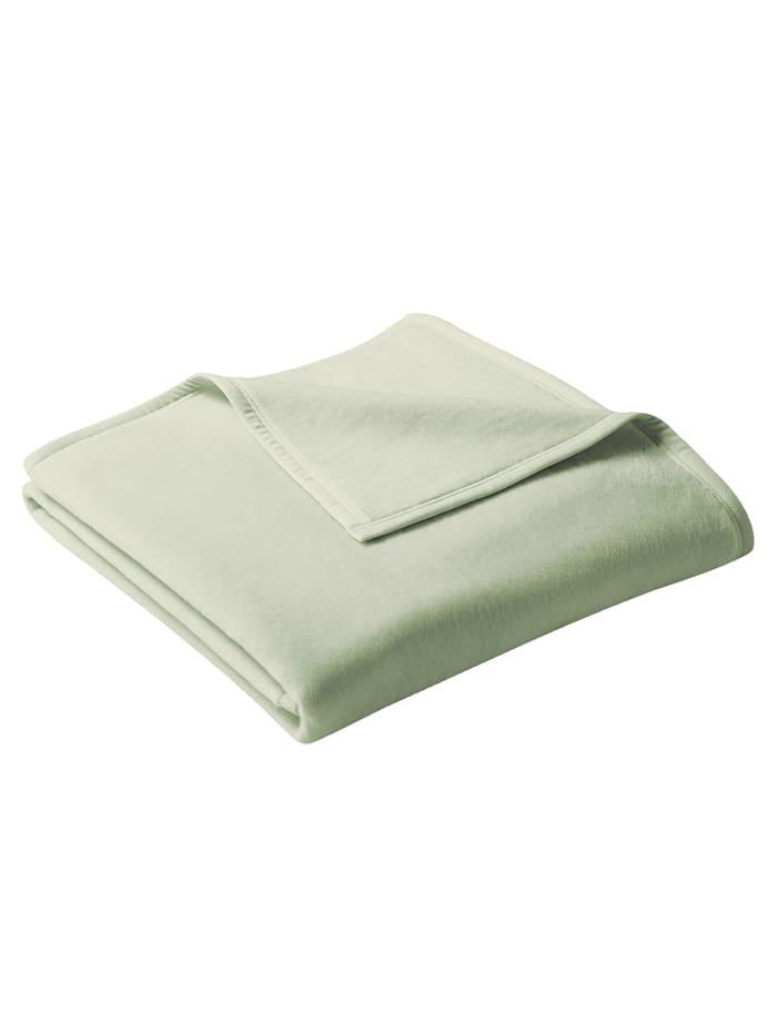 biederlack Wohndecke 'Uno Cotton', Hellgrün