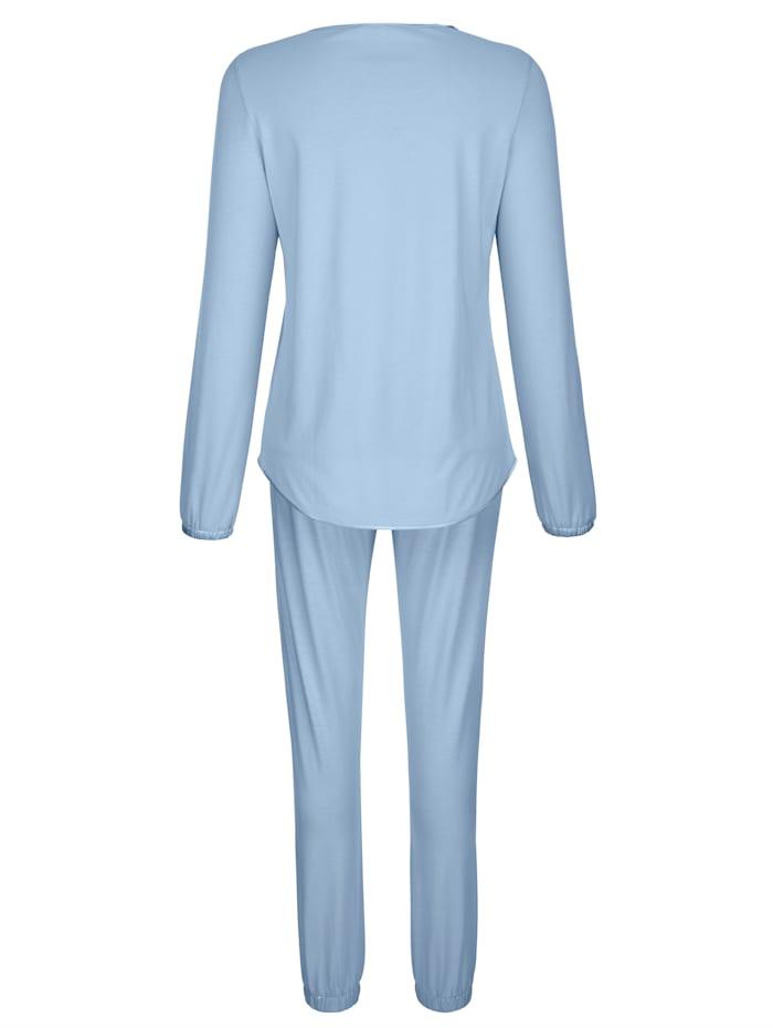 Pyjama met elegante details van kant