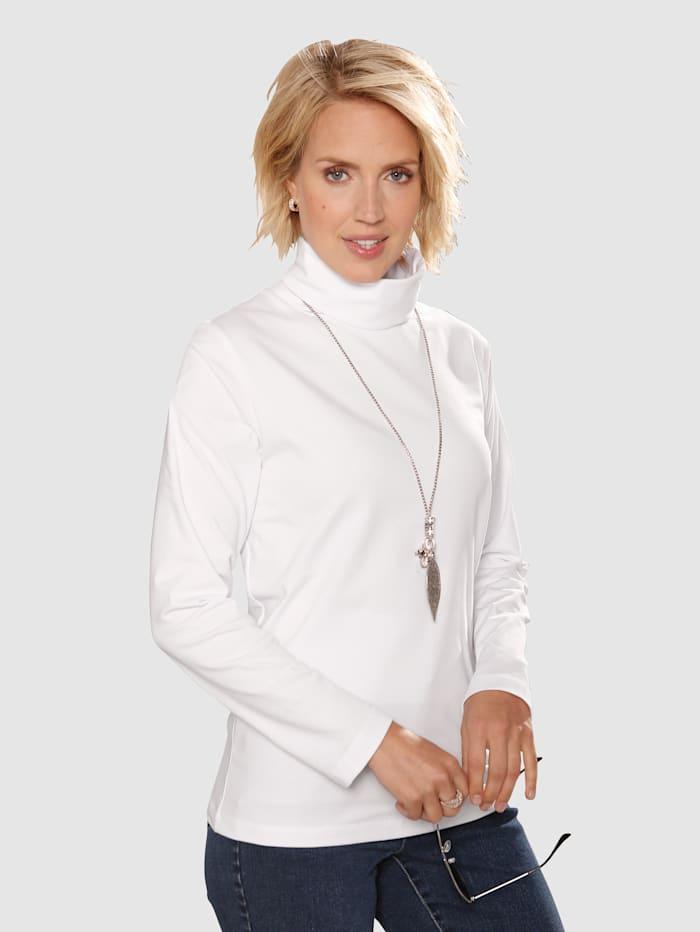 Paola Rollkragenshirt im sportlichen Look, Weiß
