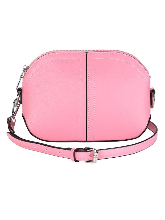 Collezione Alessandro Umhängetasche aus strukturiertem Softmaterial, rosa