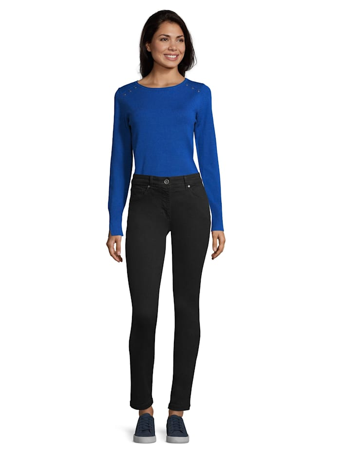 Betty Barclay Stretch-Hose Slim Fit, Schwarz/Schwarz