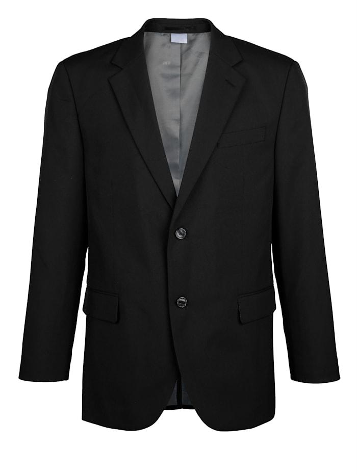 Men Plus Veste de costume de coupe spéciale ventre, Noir