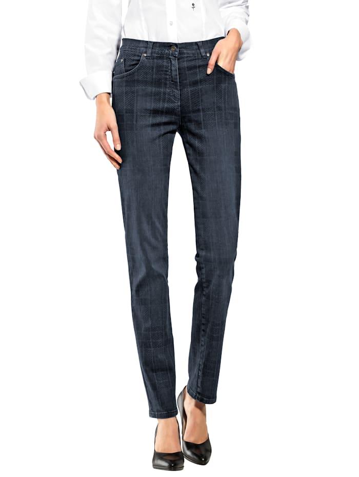 Raphaela by BRAX Jeans im Karo Dessin, Dark blue