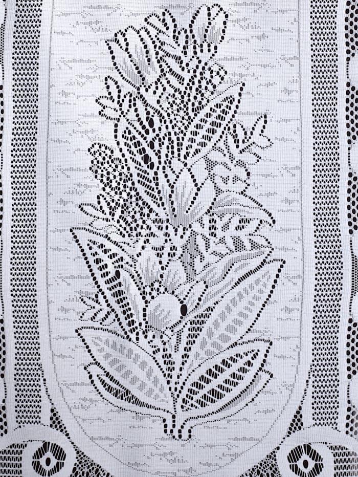 Kappe med vevd blomstermønster
