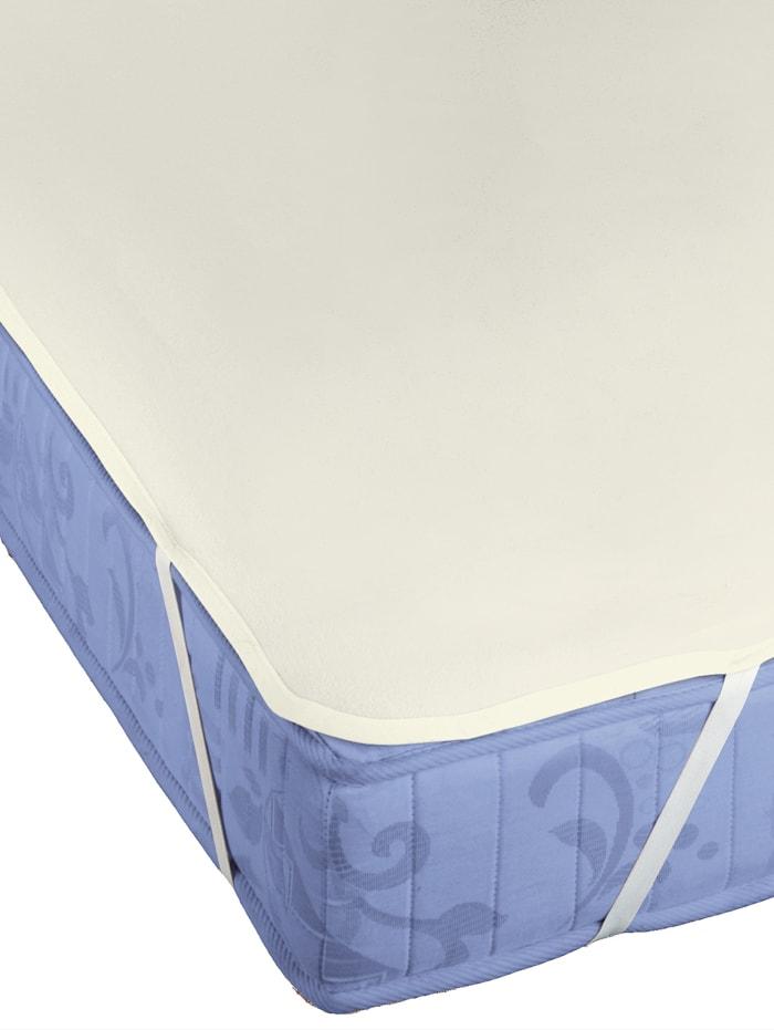Biberna Molton matrasbeschermer Premium 'Sleep & Protect', Ecru