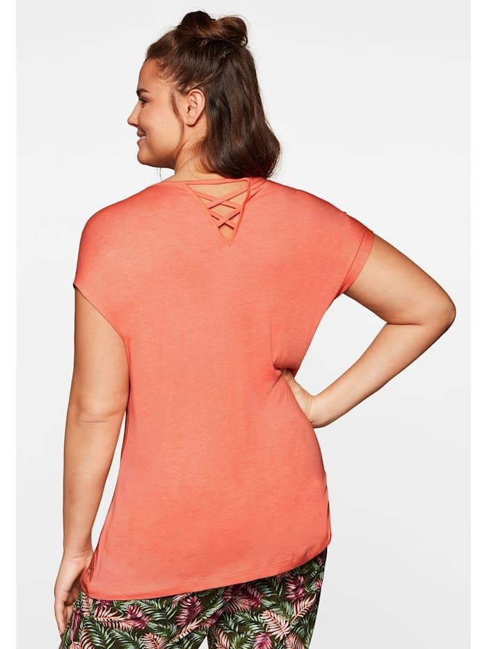 Sheego T-Shirt mit tropischem Druck