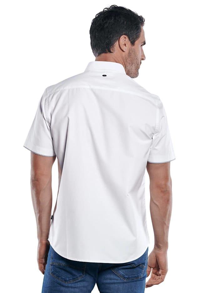 Unifarbenes Kurzarmhemd mit einzigartigen Kontrastdetails