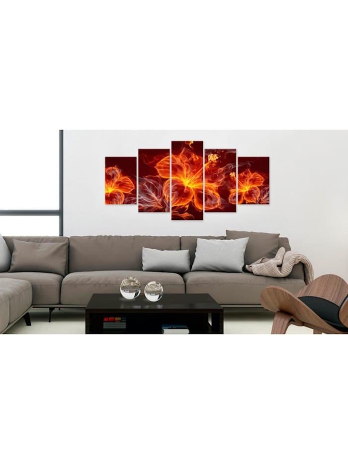 Wandbild Fiery Flowers