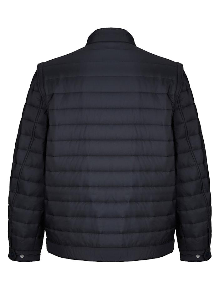 Gewatteerde jas met afneembare mouwen