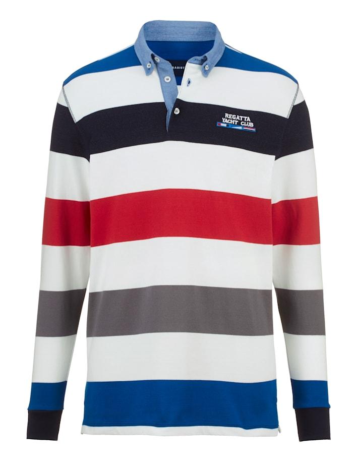 BABISTA Sweat-shirt avec denim contrastant, Blanc/Bleu