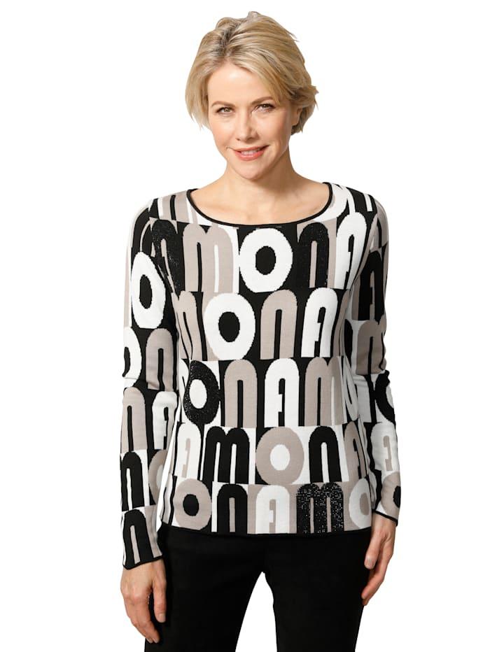 Pullover aus modischem Jaquard-Strick