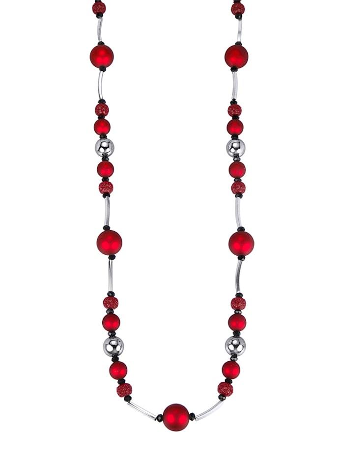 KLiNGEL Collier mit Zierkugeln, Rot
