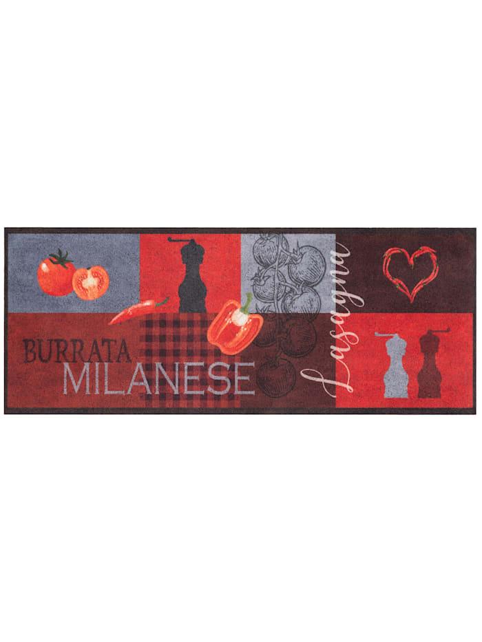 Pergamon Küchenläufer Teppich Trendy Milanese, Rot