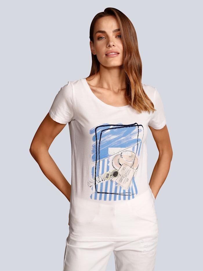 Marc Aurel T-Shirt mit Motiv, Weiß
