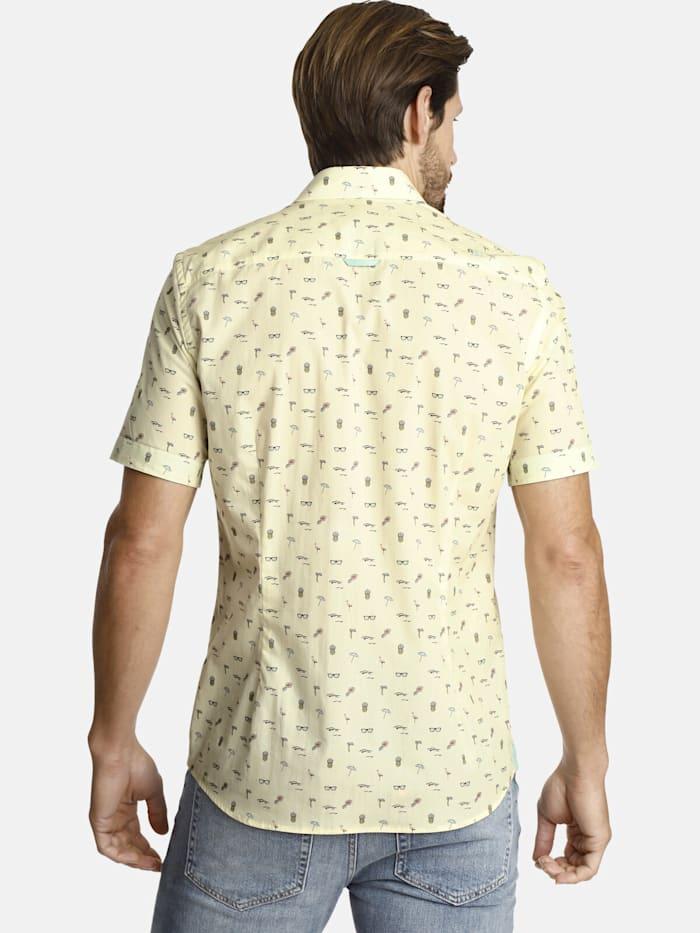 Shirtmaster Shirtmaster Kurzarmhemd lifeonbeaches, gelb