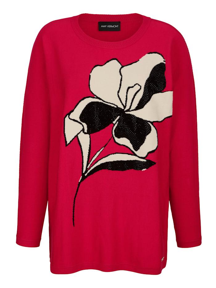 Pullover mit Strasssteindeko