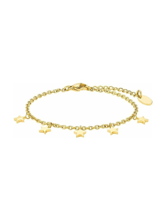 amor Armkette für Damen, Edelstahl, Stern, Gold