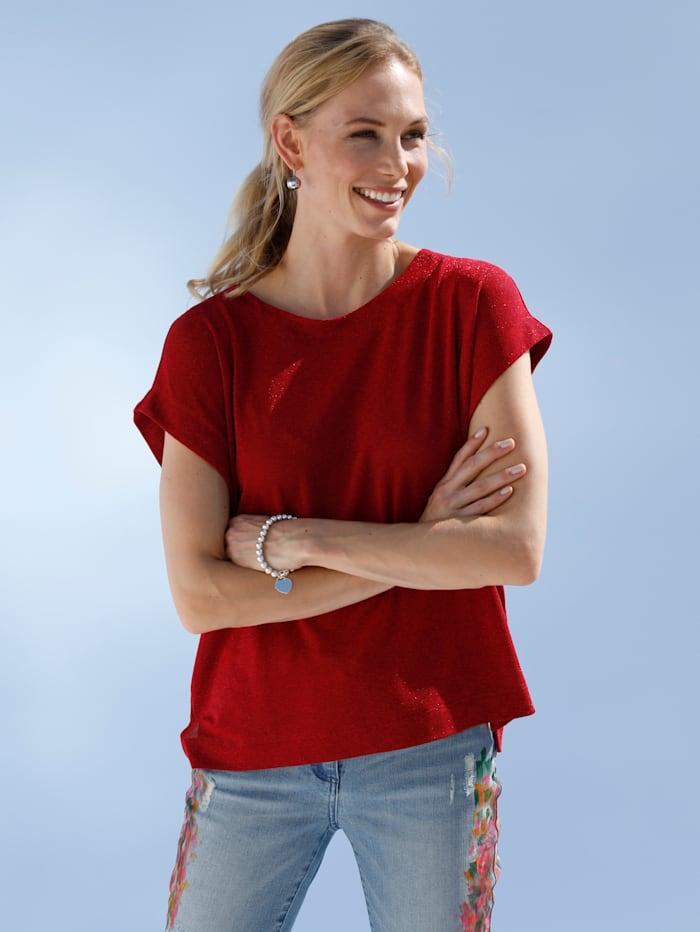 AMY VERMONT Shirt mit Glanz-Effekt, Rot
