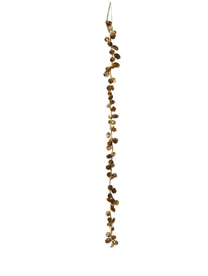 IMPRESSIONEN living LED Lichterkette Tannenzapfen, gold