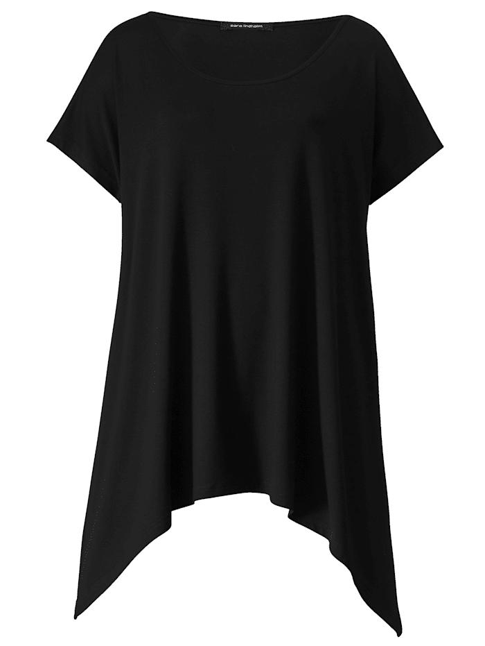 T-shirt à pointes en viscose douce et fluide