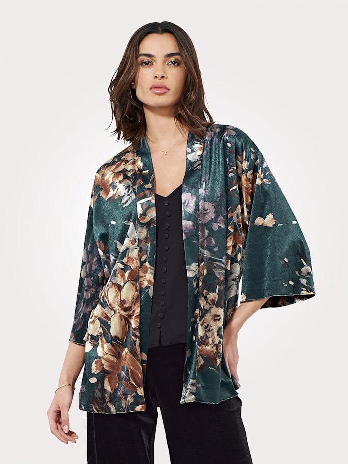 Artigiano Kimono made from printed velvet, Multi