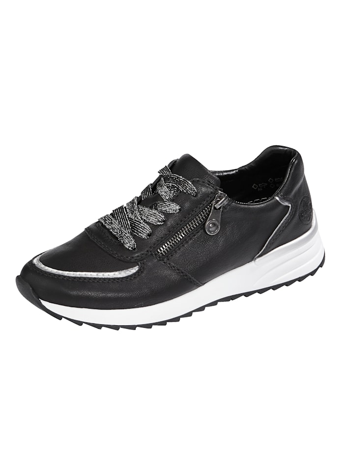 Rieker Trainers with soft insole, Black