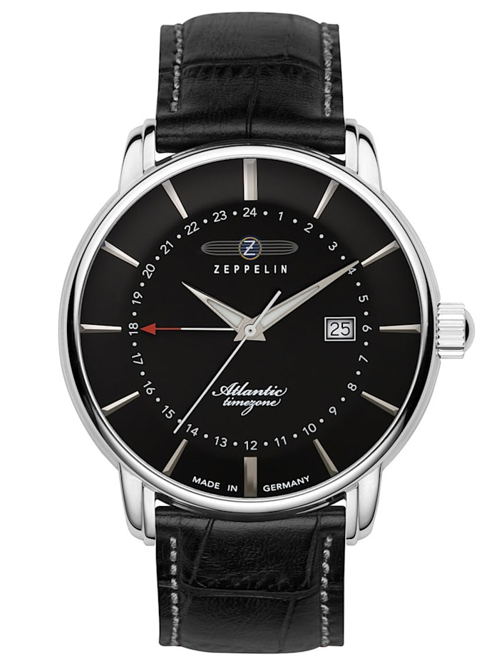 Zeppelin Herren-Armbanduhr Atlantic, Schwarz