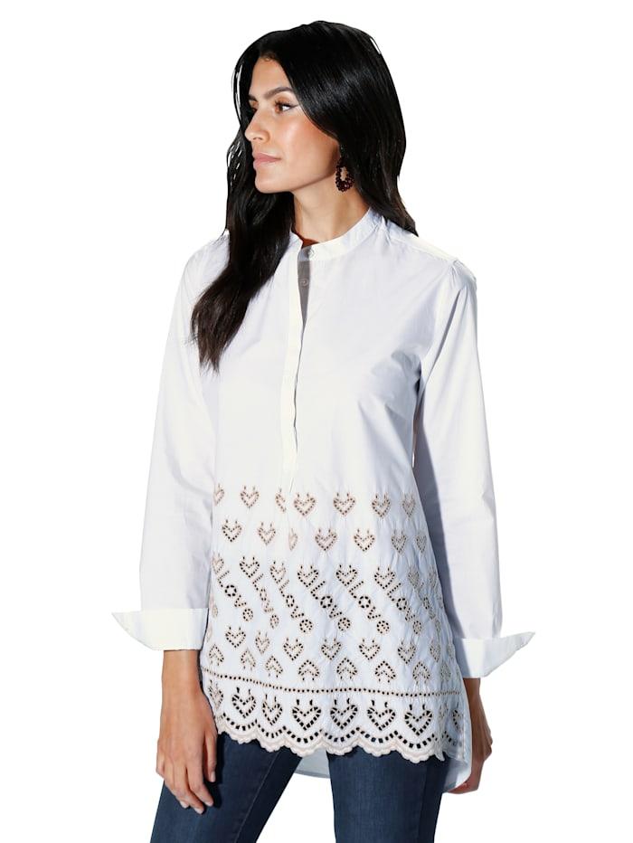 Lieblingsstück Bluse mit aufwendiger Lochstickerei, Off-white/Beige