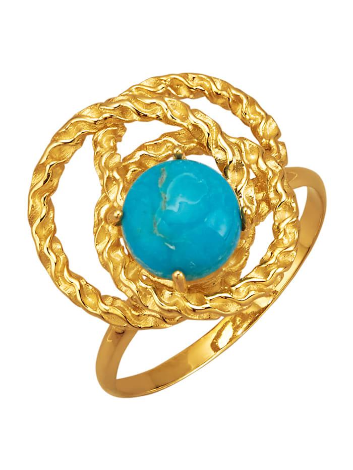 Damenring mit Türkis (beh.), Blau
