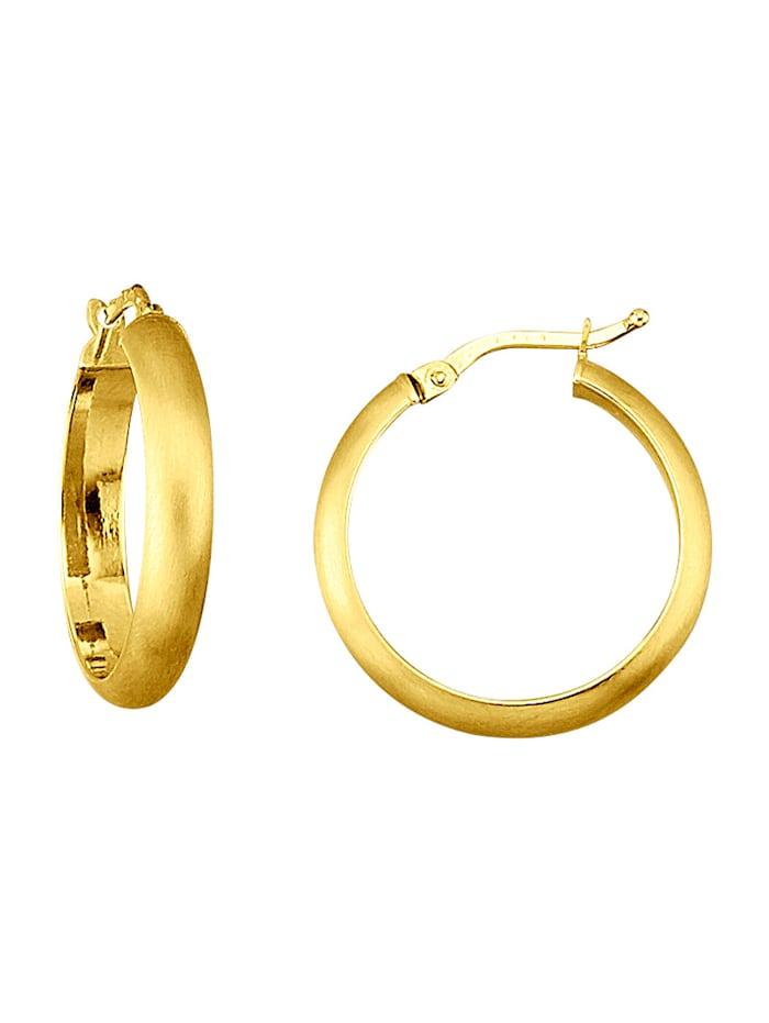 Øreringer i gull 375, Gullfarget