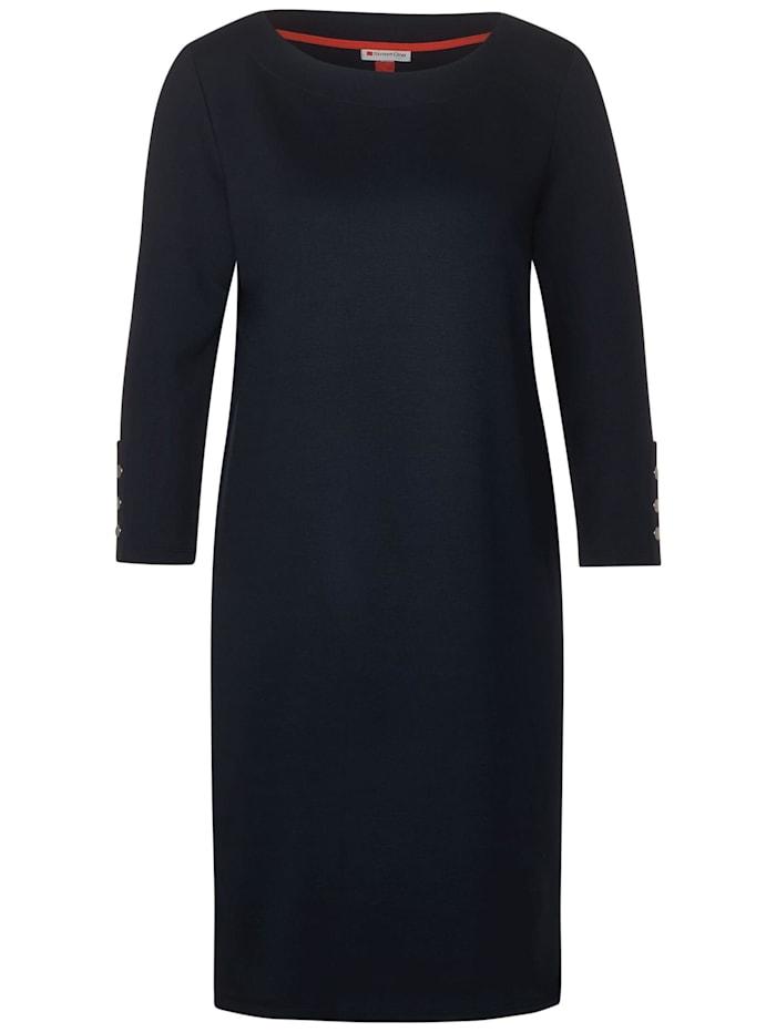 Street One Jerseykleid mit Knopfdetail, dark blue