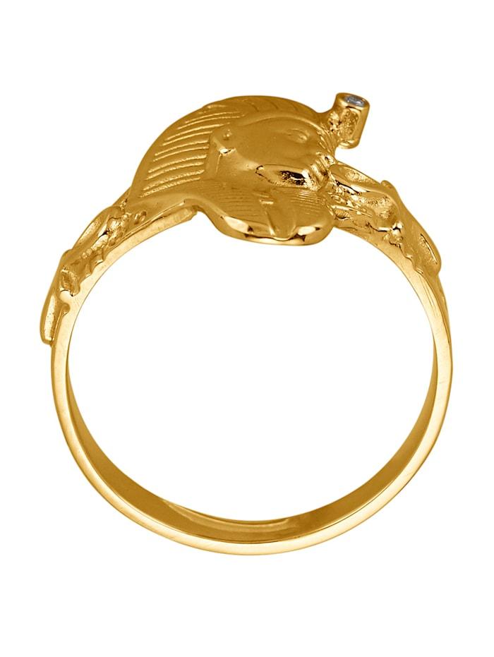 Sphinx-Ring Mit Diamant