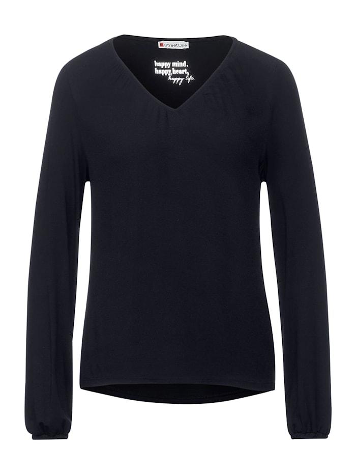 Street One Shirt mit Smok-Details, dark blue