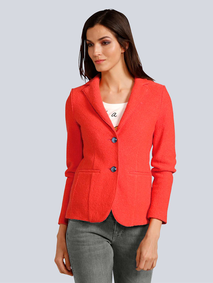 OUI Blazer in modischer Farbe, Orange