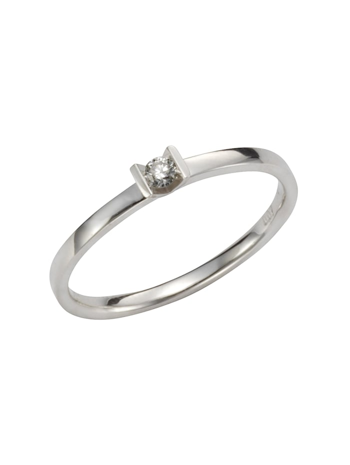 Orolino Ring 585/- Gold Brillant weiß Brillant Glänzend 0,07 ct. 585/- Gold, weiß