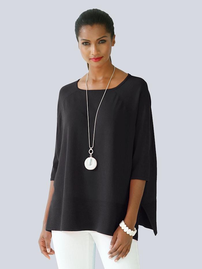 Alba Moda Pullover in Oversized-Form, Schwarz