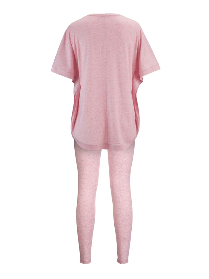 Loungewear set with a relaxed top
