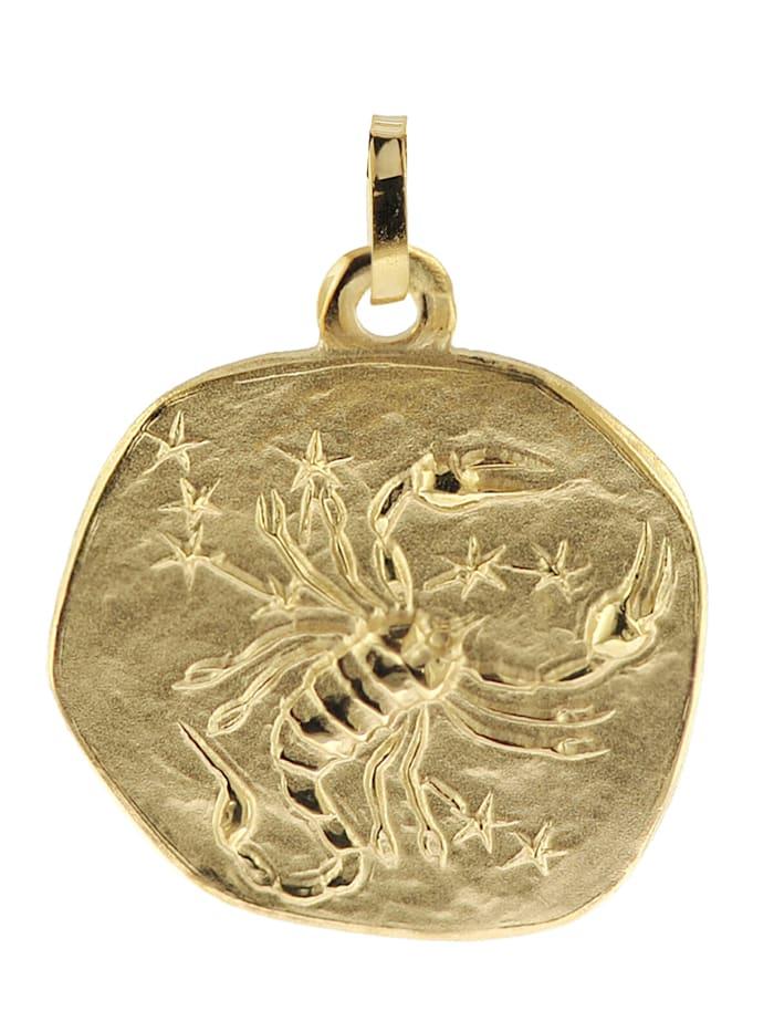 trendor Sternzeichen-Anhänger Skorpion 333 Gold 20 mm, Goldfarben